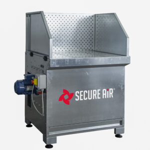 banco aspirante per fumi polveri con ventilatore e filtri integrati