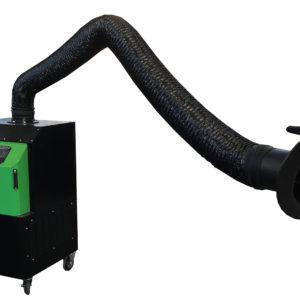 depuratore carrellato mobile fumi di saldatura con braccio autoportante mt 3 a tubi rigidi