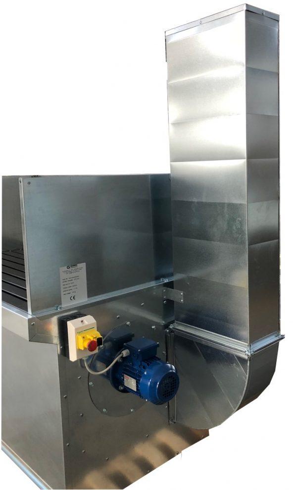 banco aspirante ventilatore filtri