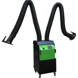 depuratore carrellato mobile fumi di saldatura con doppio braccio autoportante aspirante