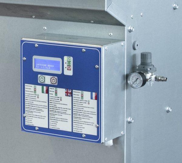 centralina monitoraggio filtri banco aspirante