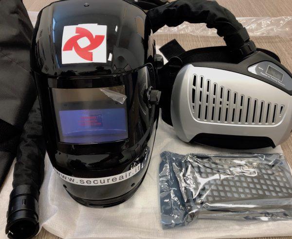 maschera digitale saldatura con respiratore ventilato e filtro