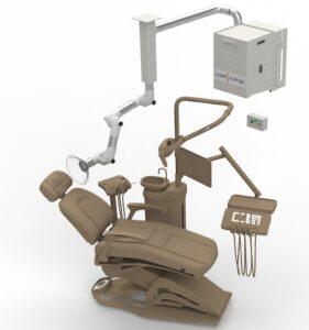 aspiratore di aersol dentale a parete
