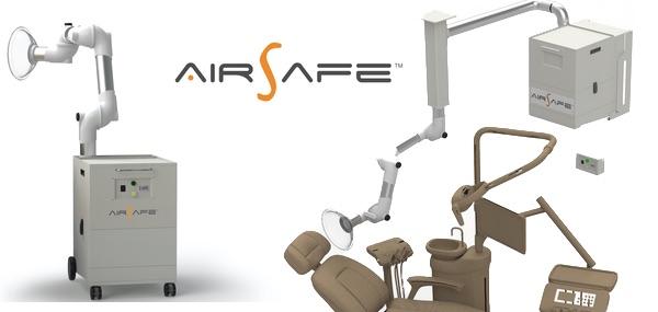 Nuovi aspiratori di aerosol per dentisti AirSafe™  in versione mobile o fissa