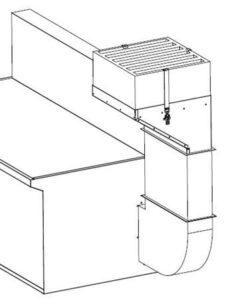 Kit di scarico con filtro HEPA integrato per banchi SBV